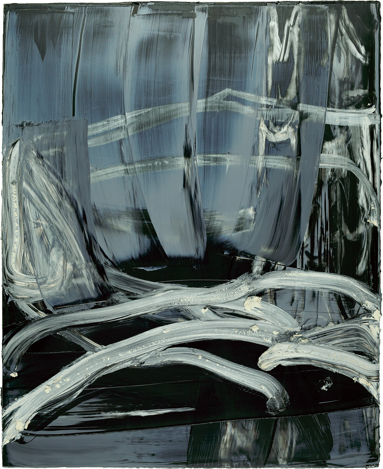 Seidenschrei, 2012, Öl auf Holz, 84x68cm