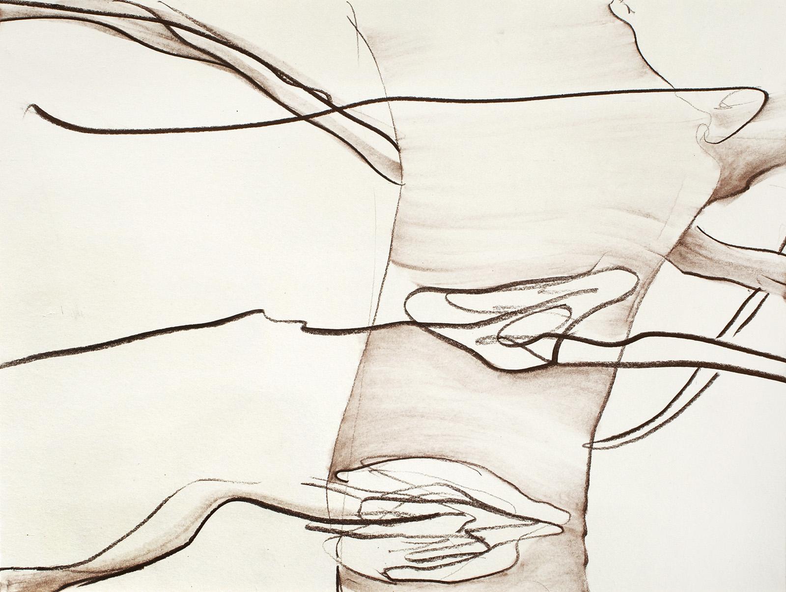 Schwarzenfels, Kreide auf Papier, 26 x 35 cm, 2013