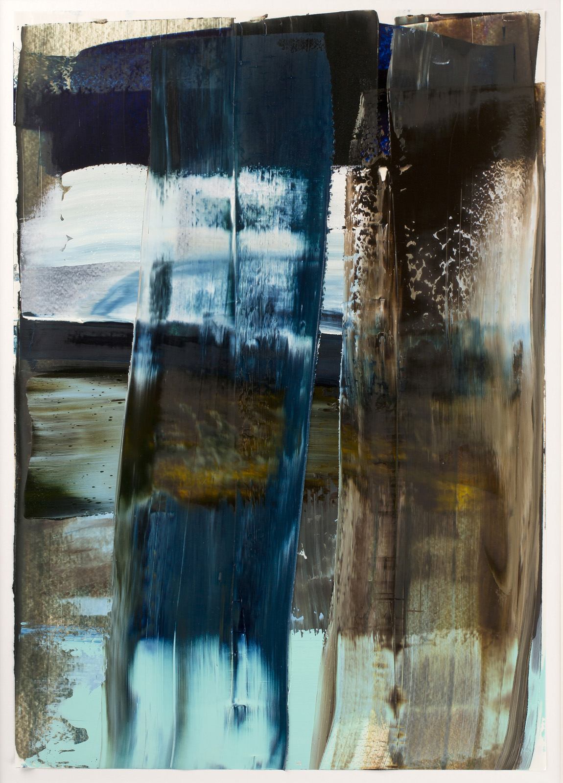 Neuland II, Öl auf Papier, 51x36cm, 2016