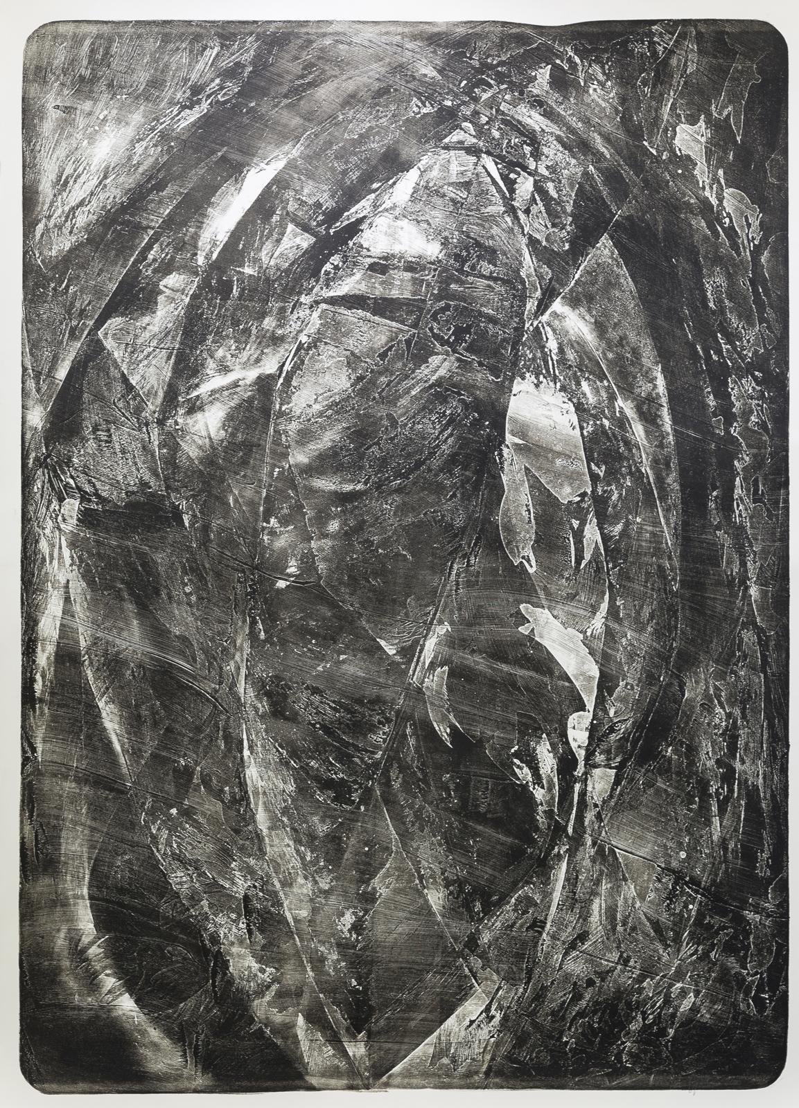 Palimpsest 1 Pachacamac, 2020, Steindruck, 181x131cm