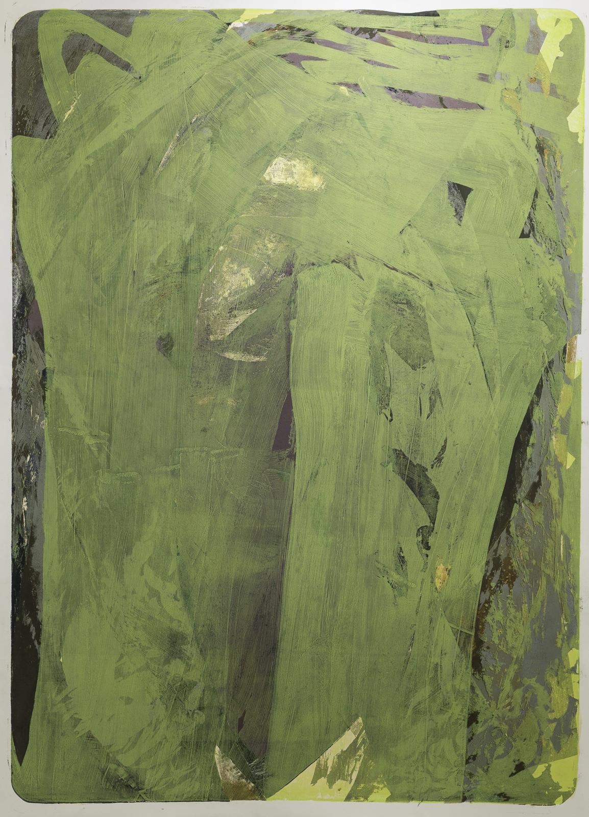 Palimpsest 2, 1996/2020, Lithographie, gelb, 177x124cm