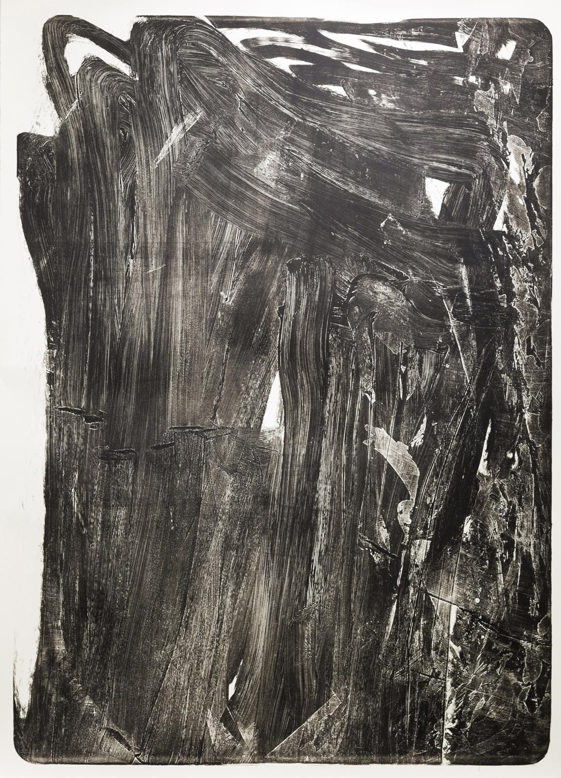 Palimpsest 2, 2020, Lithographie, Schwarzdruck, 181x131cm