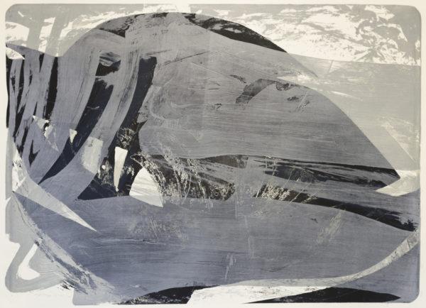 Palimpsest 2 Pachakuti, 1993/2020, Lithographie, Schwarzdruck, 131x181cm
