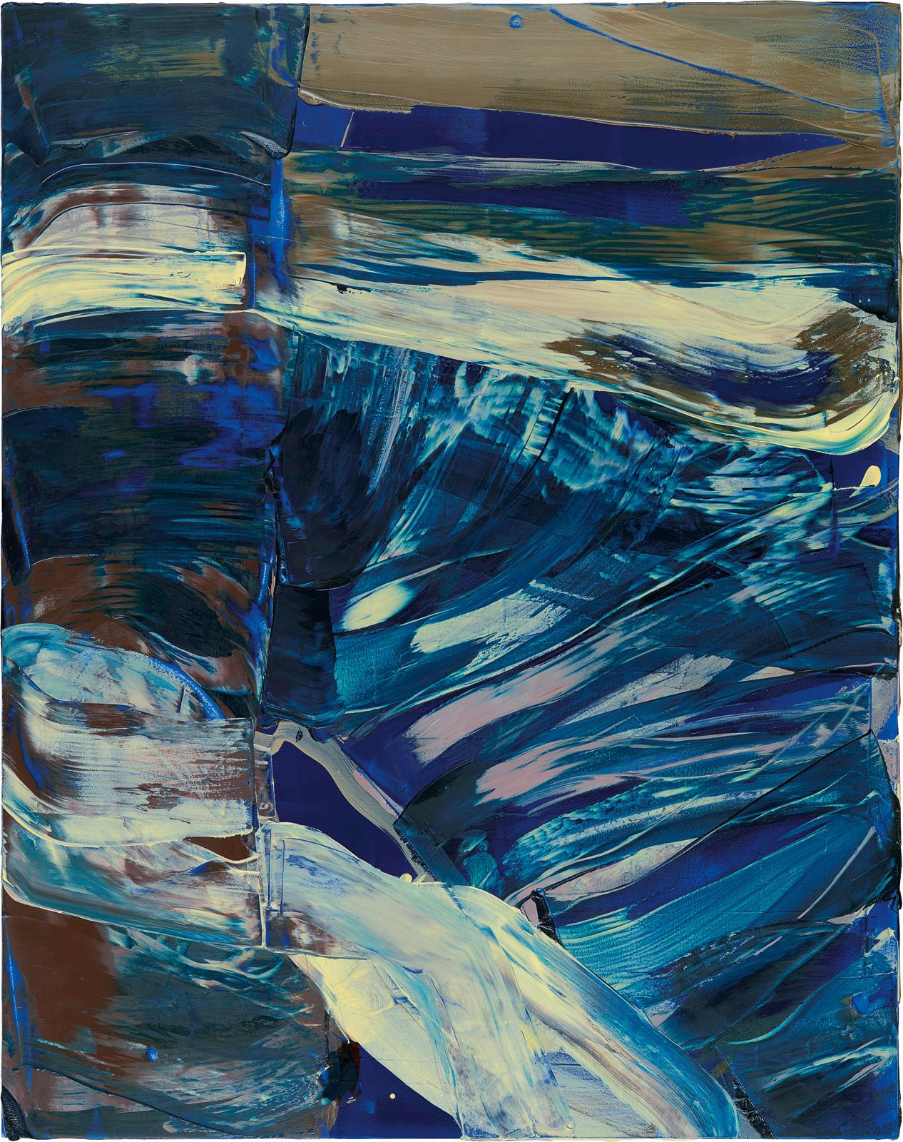 Blaubuche, 2013, Öl auf Holz, 95x75cm