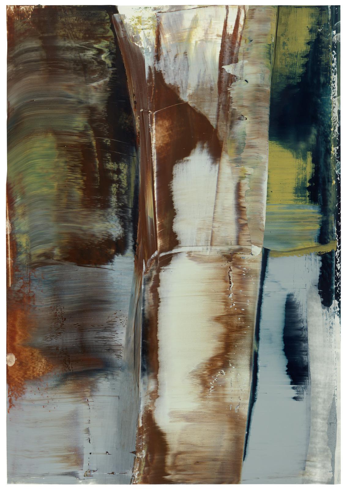 Baumstamm, Öl auf Papier, 51x36cm, 2018