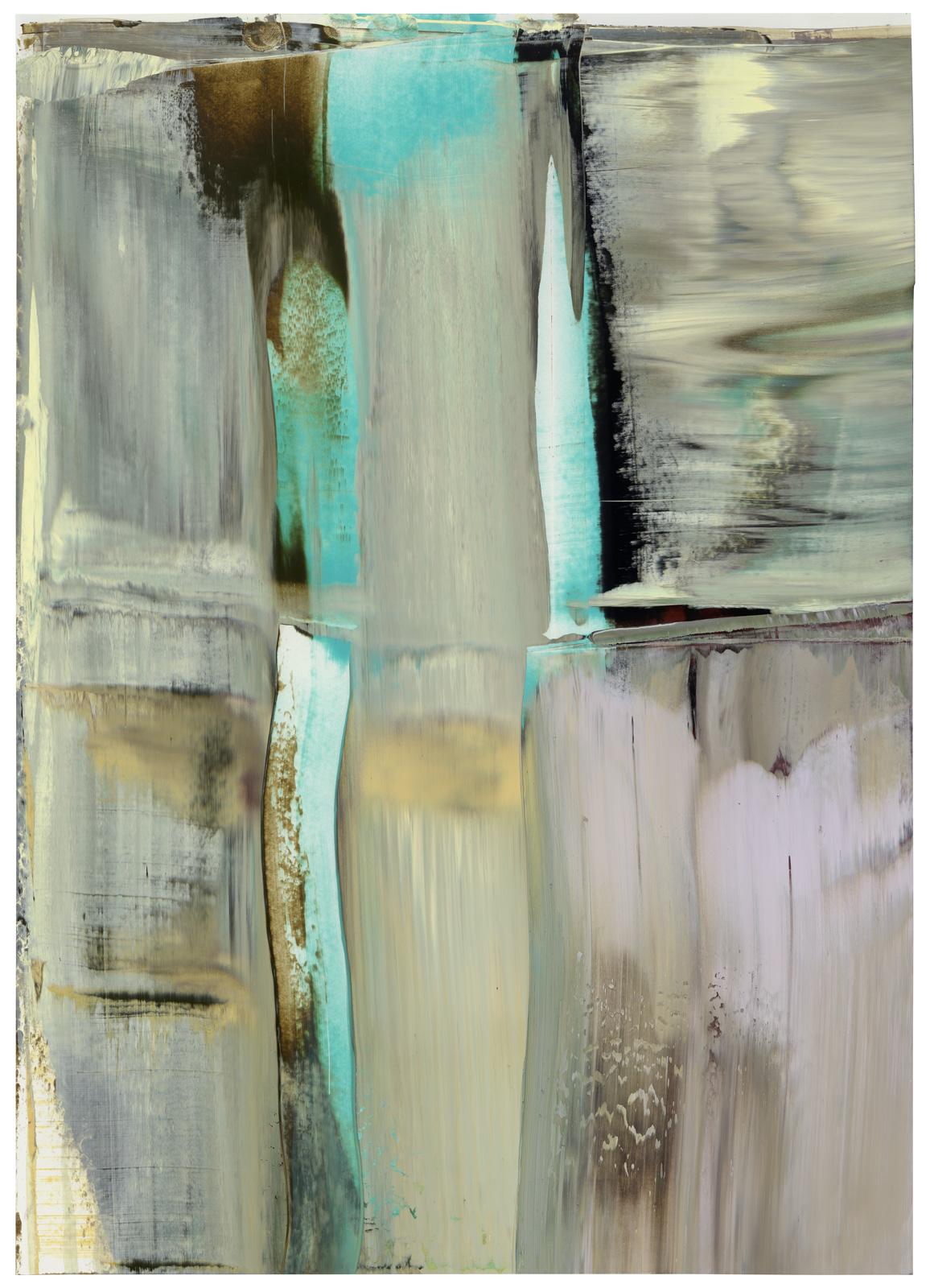 1 - 18, Öl auf Papier, 51x36cm, 2018