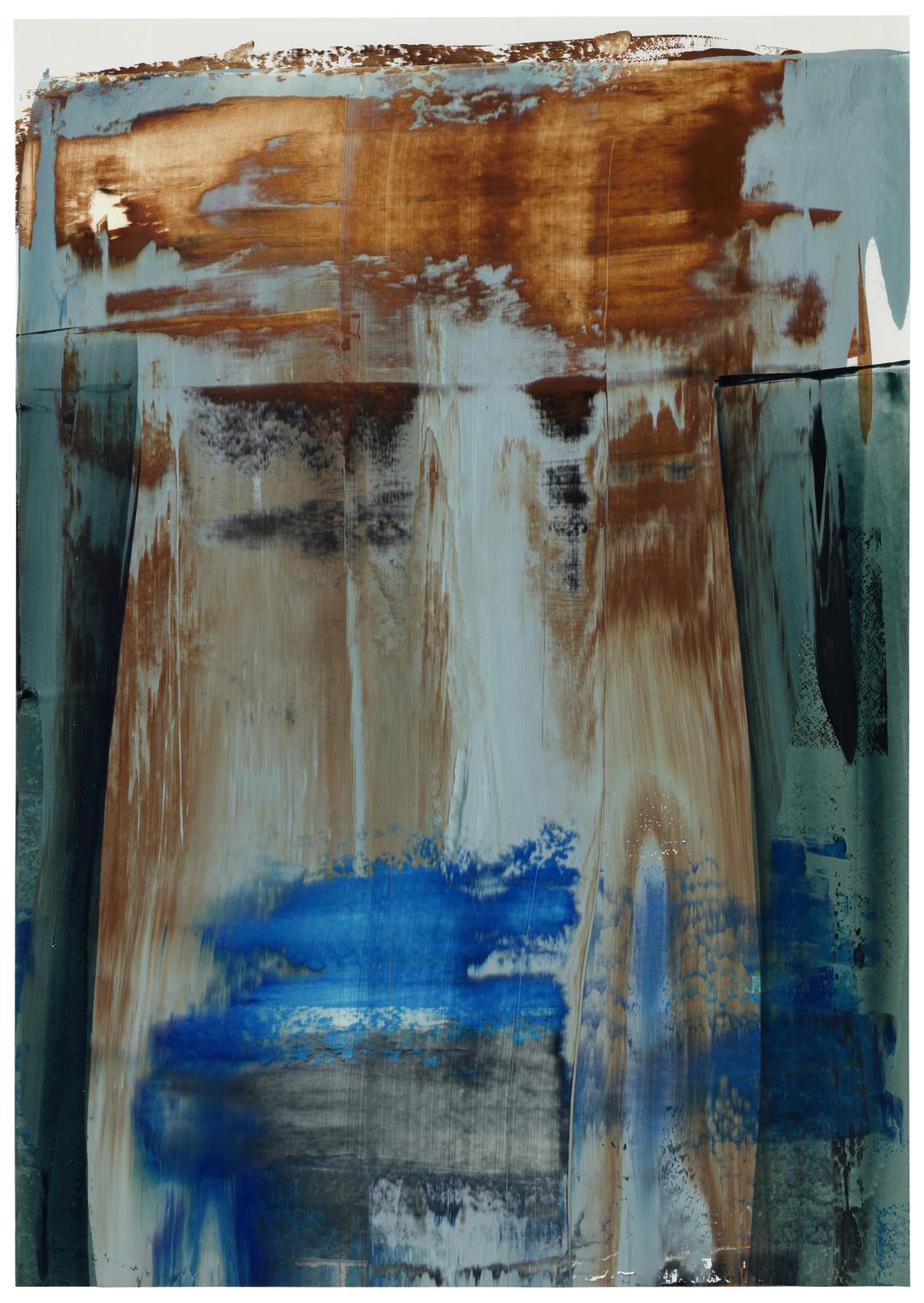 ohne Titel, Öl auf Papier, 51x36cm, 2019