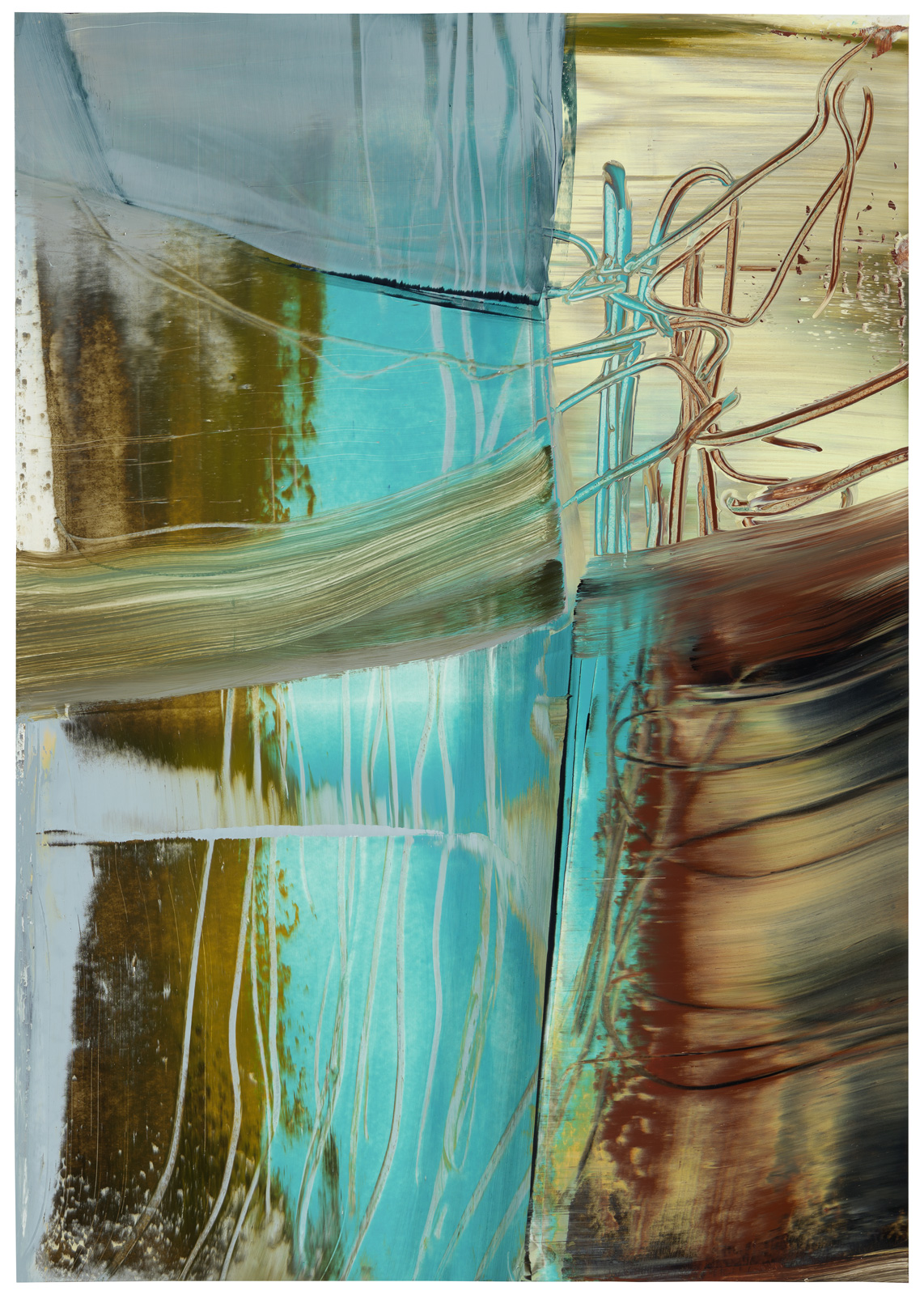 Meares Island, Öl auf Papier, 51x36cm, 2018/19