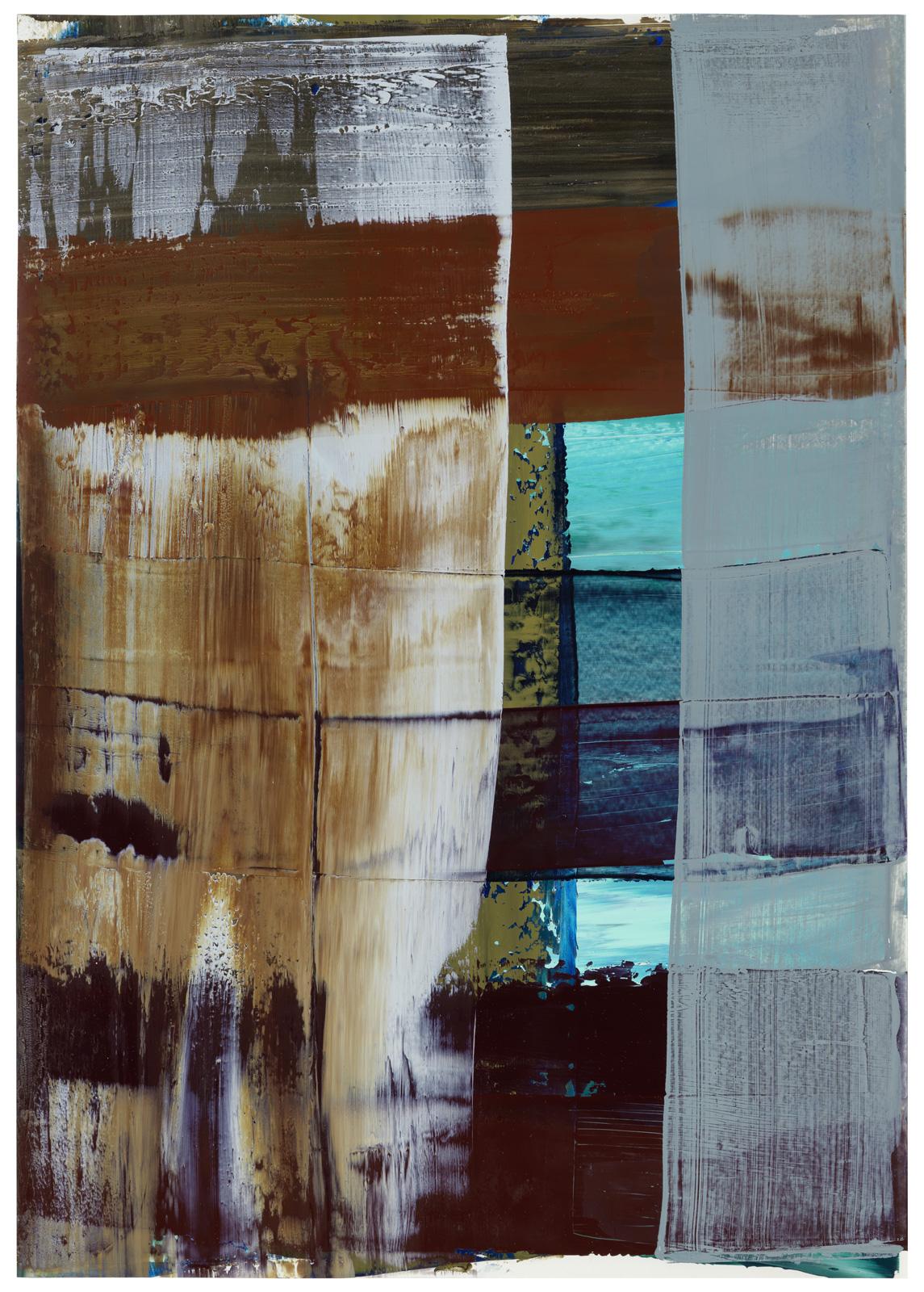 ohne Titel, Öl auf Papier, 51x36cm, 2018