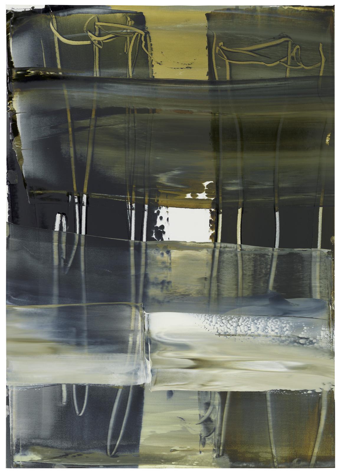 Sepia apama, Öl auf Papier, 70x50cm, 2019
