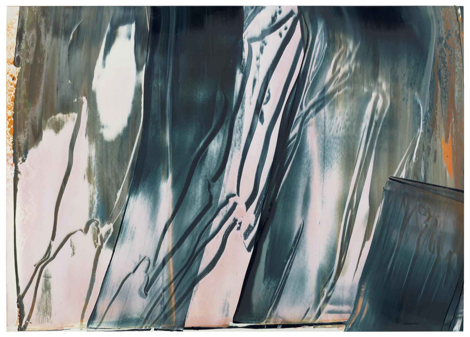 Yangtsekiang II, Öl auf Papier, 50x70cm, 2019
