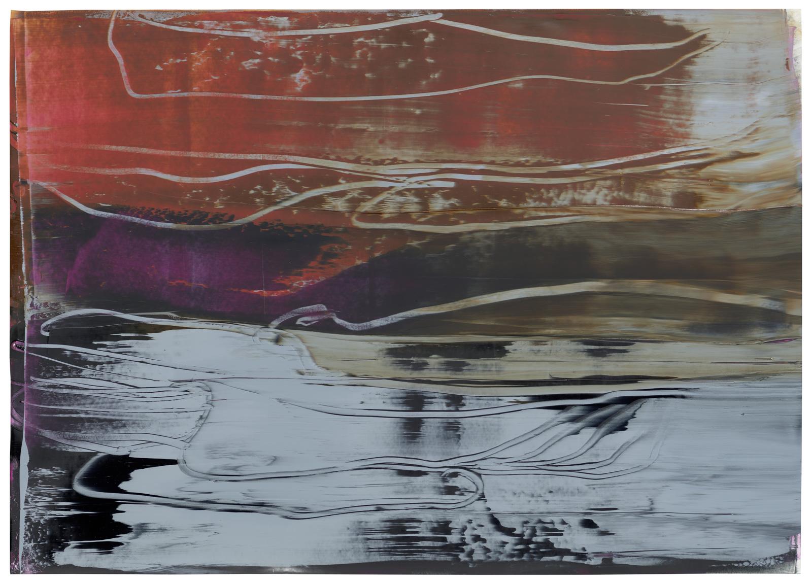 Montipora I, Öl auf Papier, 50x70cm, 2019