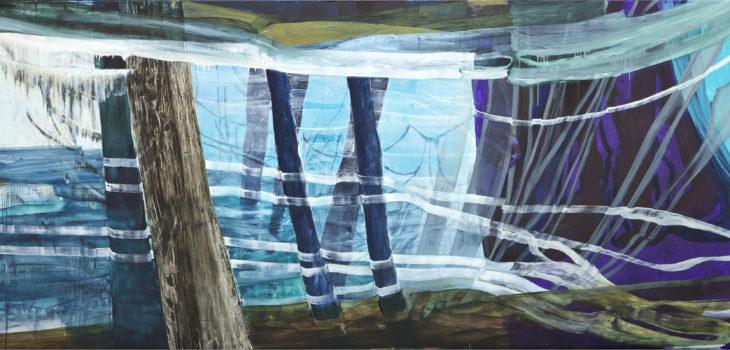Clayoquot, 2016/17, Öl auf Leinwand, 180x380cm