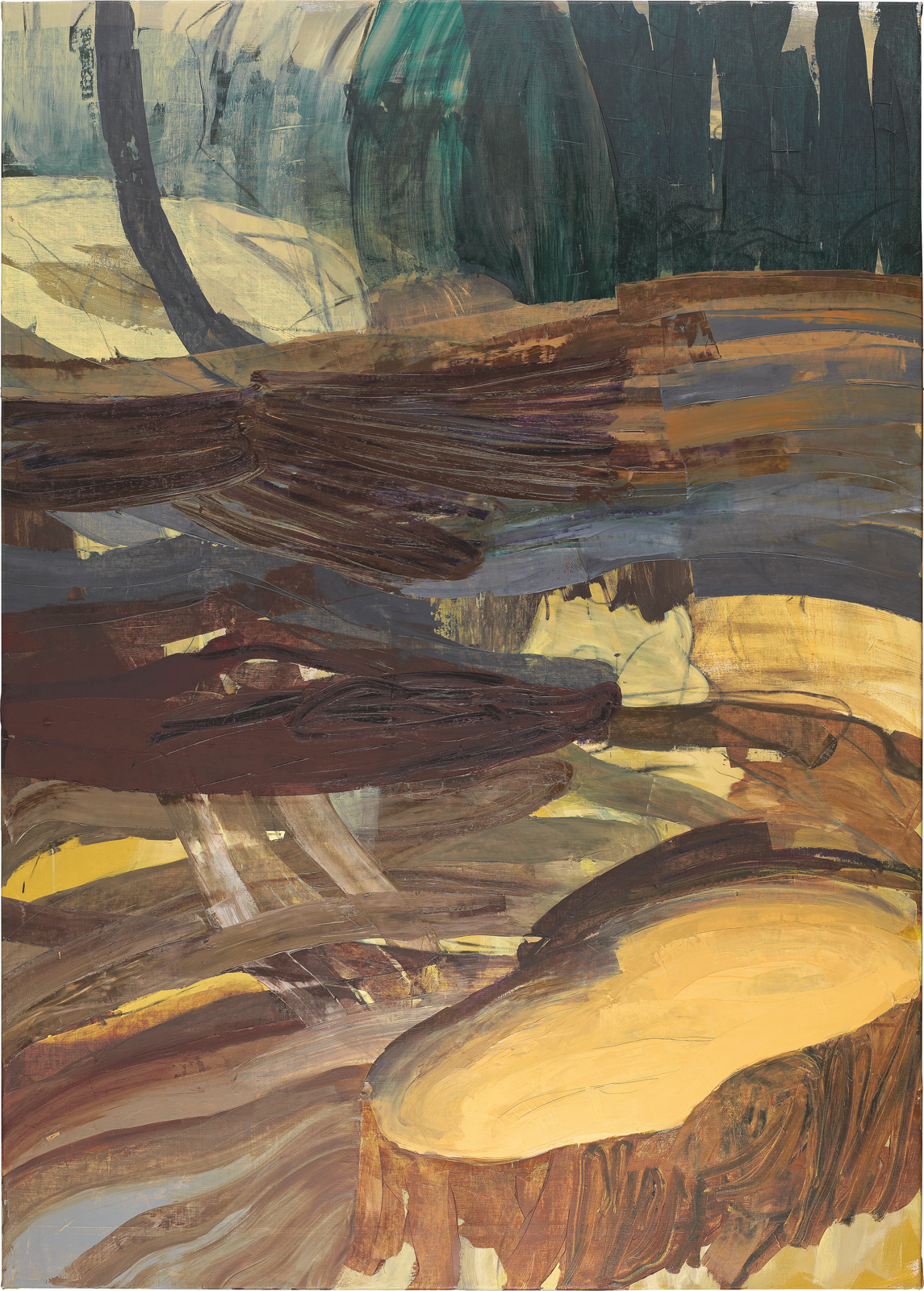 Gelber See, Öl auf Leinwand 210 x 150 cm, 2004