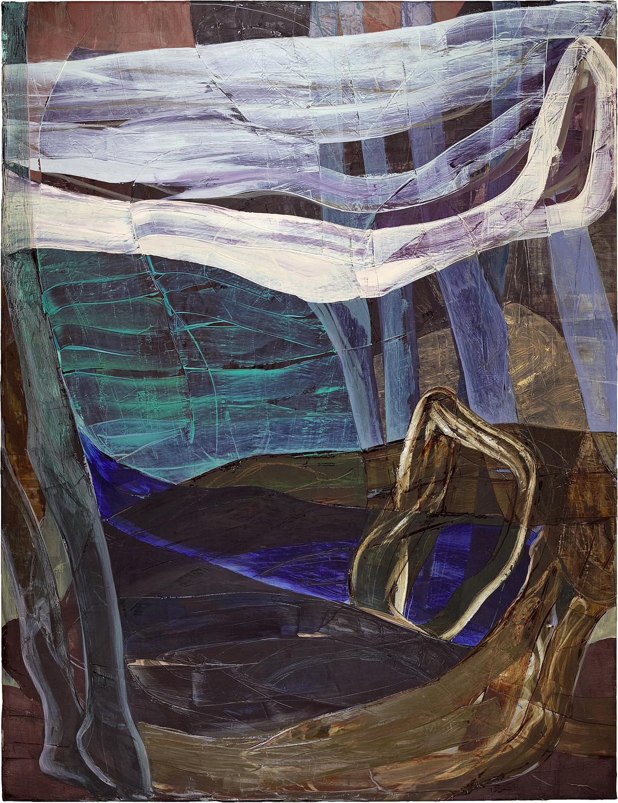 Lentos II, Öl auf Leinwand, 220 x 170 cm, 2010