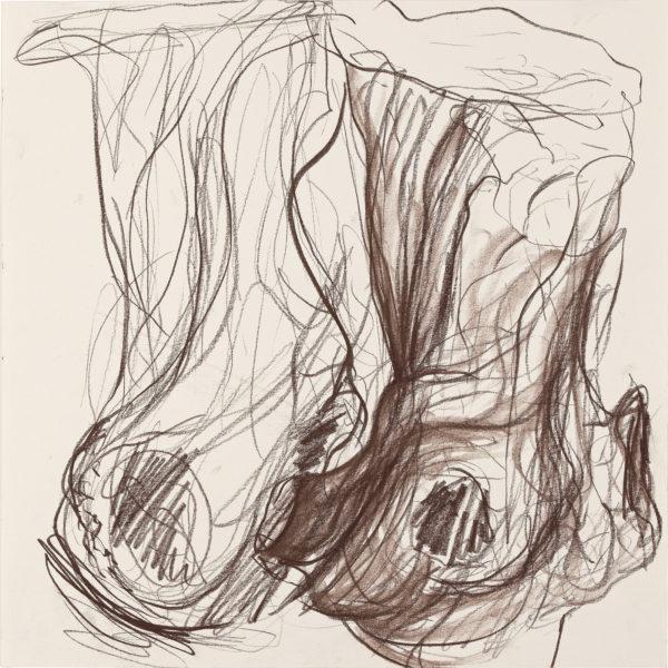 Trees, Kreide auf Papier, 40x40cm, 2006
